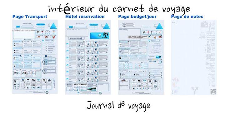 """Résultat de recherche d'images pour """"carnet de voyage vierge à imprimer"""""""