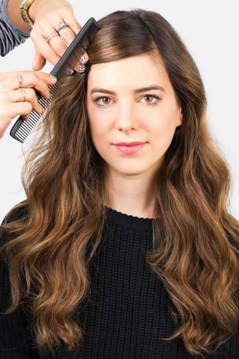 Can't deal with your bangs? Try a mini French twist (here, step 1 of creating it). See how to do it plus four other styles that will get your bangs out of your face chicly.