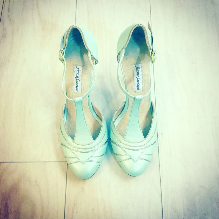 Mint bridal shoes by Femme Fanatique