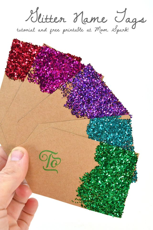Get your glitter on with these fabulously made from scratch gift tags. No fancy cutting machines, no expensive pre-made tags in this tutorial! Grab your favorite card stock and the free printable to make your own!