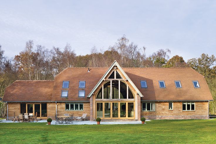 new build barn oak self the most reliable material for house but also one