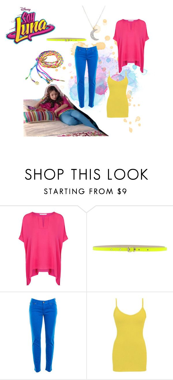 """soy luna"" by maria-look on Polyvore featuring Diane Von Furstenberg, MSGM, J.Crew, BKE core and Finn"
