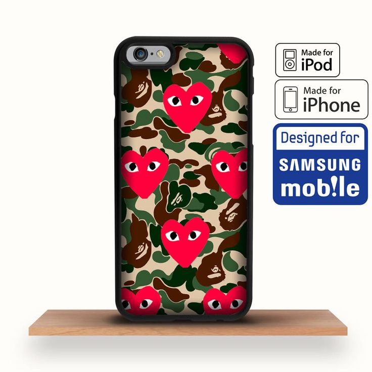 2017 Bape Heart CDG Play Pattern Cover iPhone 7,7+,6s,6s+ Samsung S8 S8+ Case #UnbrandedGeneric