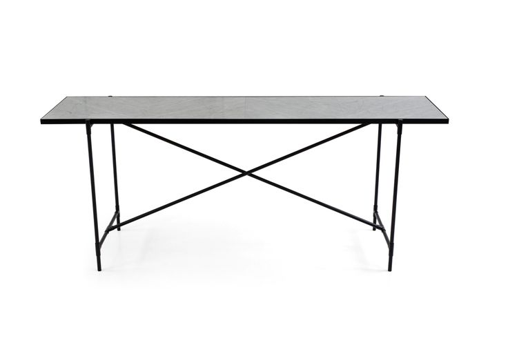 HANDVÄRK Console // Black on Black // White Marble