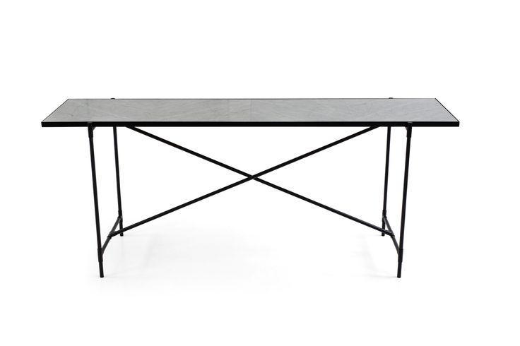 HANDVÄRK Console // Black on Black // White Marble