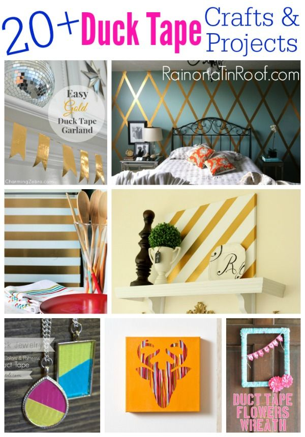 The ultimate list of duct tape crafts and duct tape projects! There are duct tape ideas for home decor, jewelry - even furniture makeovers!