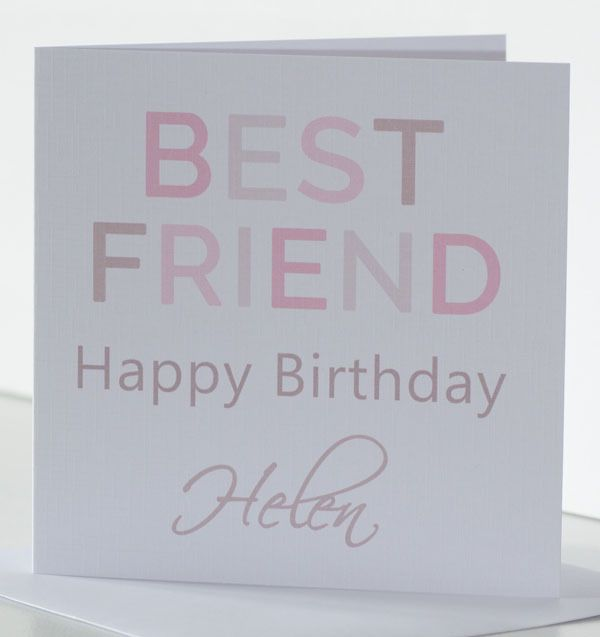 Personalised Best Friend Birthday Card For A Female Her Special
