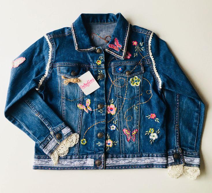 A personal favorite from my Etsy shop https://www.etsy.com/ca/listing/595711749/girls-boho-chic-denim-jacket