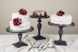 Antikolt ezüst fa tortatál - Princess3 | Jack&Jane tortaállványok