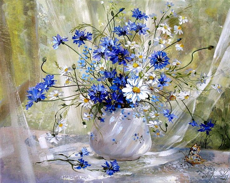дикие цветы картины маслом - Szukaj w Google