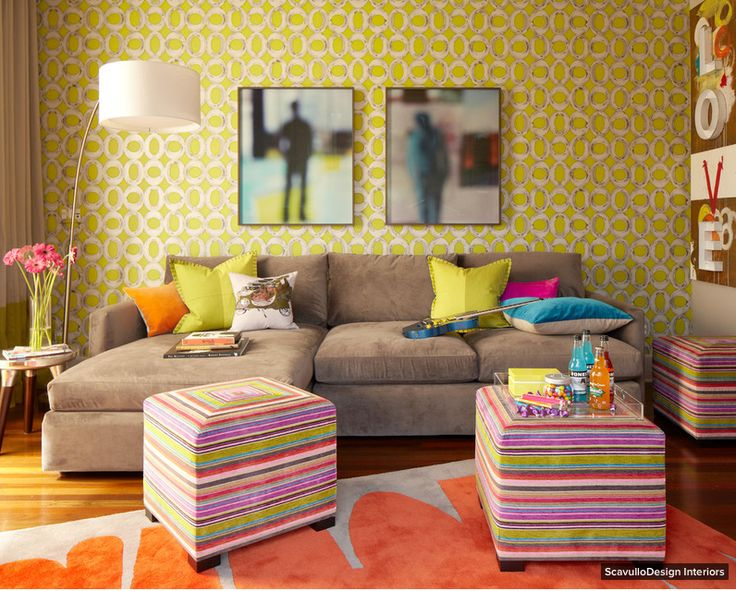 Room of the Day by Houzz - Playing up color in a California Lounge - Cozy and upbeat at the same time, don't you think?