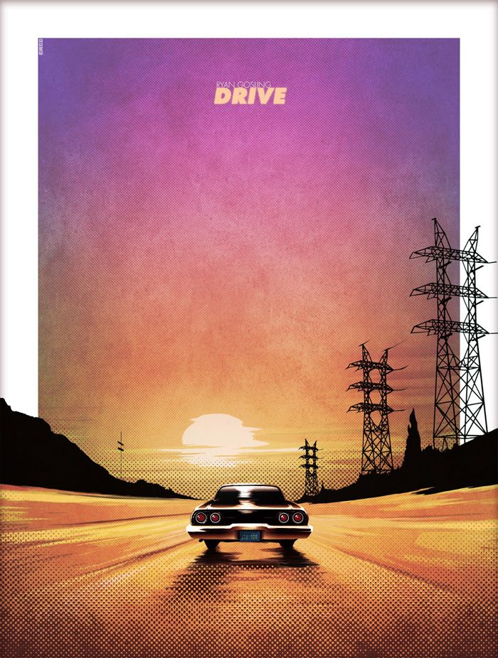Alternative movie poster for Drive by Matthew Ferguson - should this be on our top 10 Drive Alternative Posters? http://www.cautioustrain.com/blog/2013/01/alternative-drive-movie-posters/