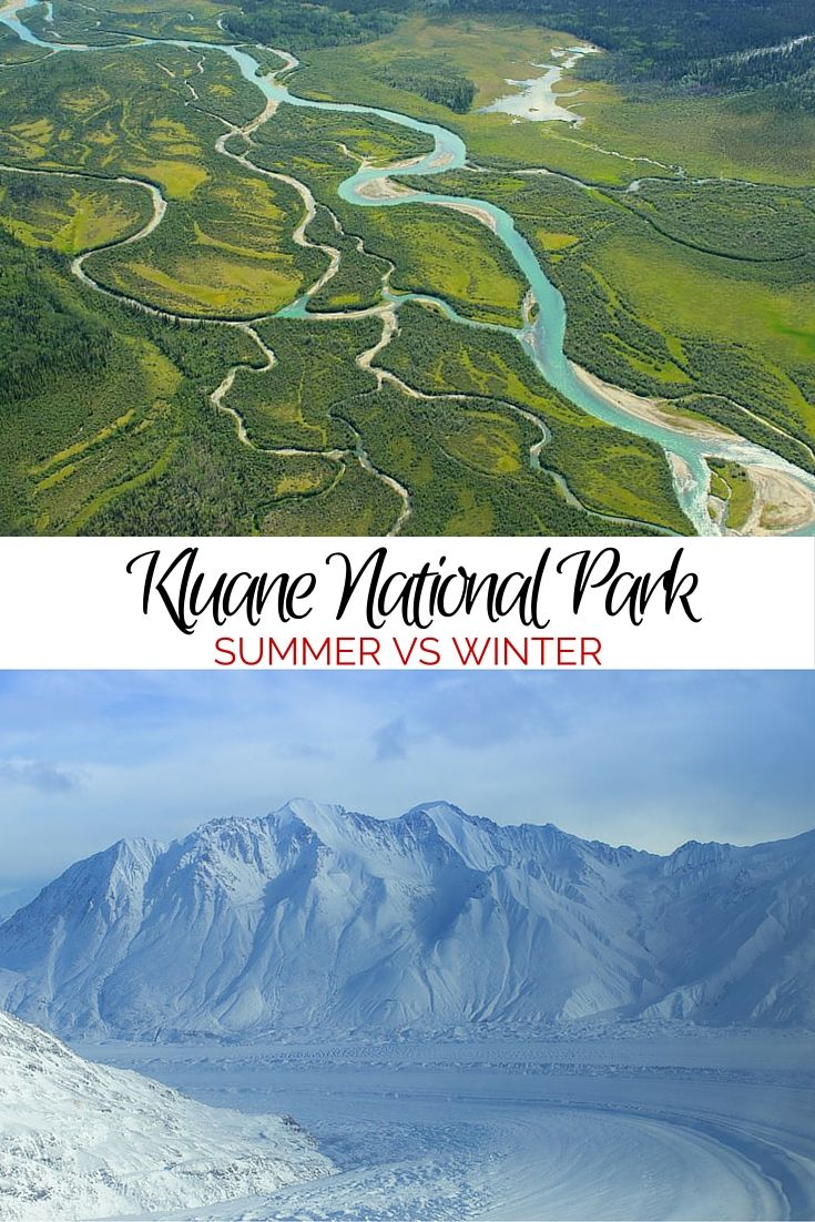 Kluane National Park in Yukon, Canada is spectacular year round! Check out these comparisons of summer versus winter.