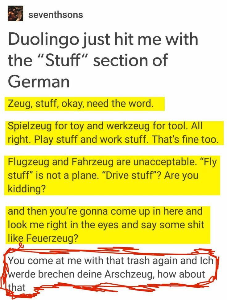 Deutsch klingt so, als wurde es vom einem Kind erfunden.