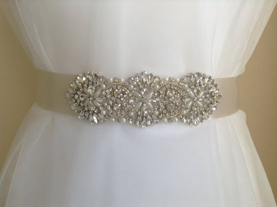 Crystal Bridal Sash-Rhinestone Wedding Belt-Bridal Sash-Wedding Dress Belt on Etsy, £49.00