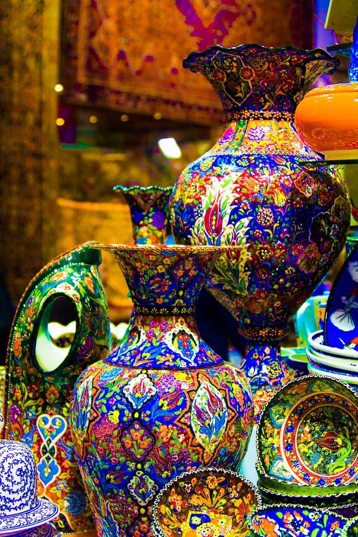 Turkinsh pottery  @ Istanbul, Turkey by Raees Uzhunnan
