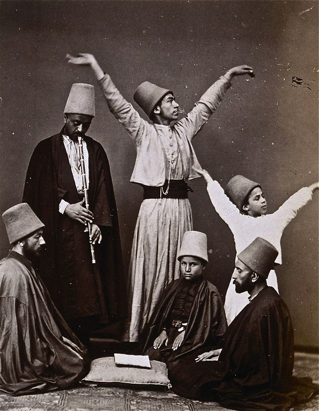 OldPhoto of #Whirling #Dervishes Group, 1870; #Istanbul, #Turkey  #Ottoman #Islam #Sufism