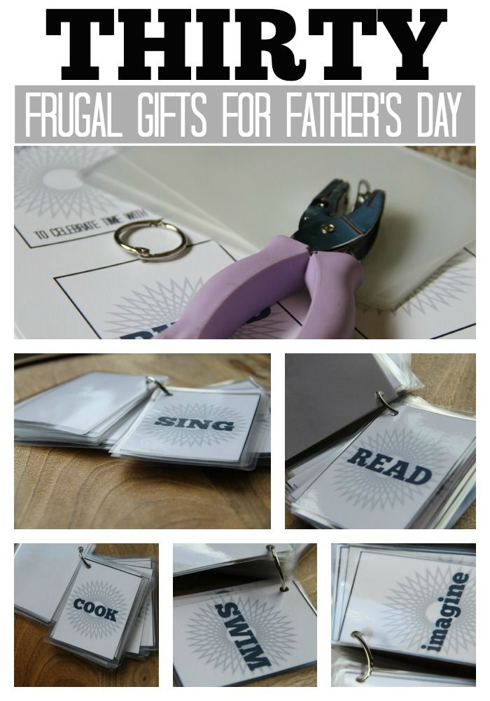 "30 Inexpensive Ideas for Father's Day!  This list was made into a printable - a DIY ""Book of Experiences Celebrating Time with Dad"". FREE PRINTABLE included in the post."