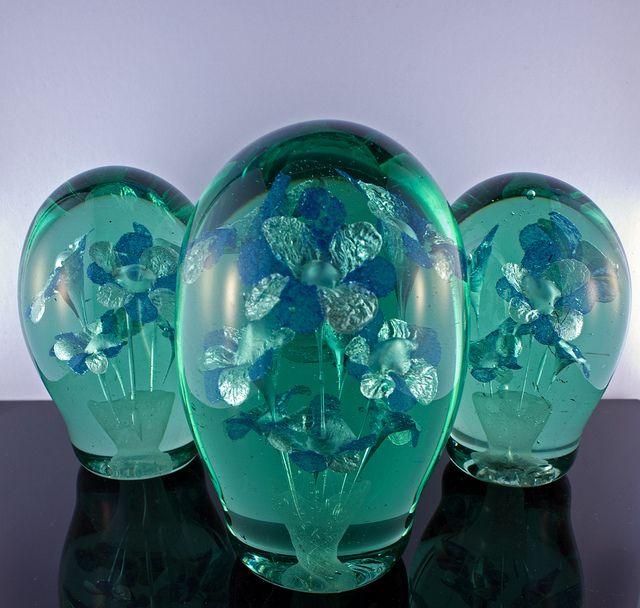 Bristol Blue Glass Paperweight