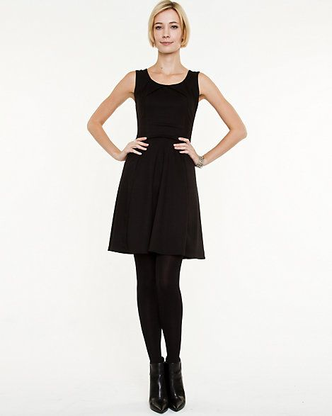 Le Château: Ponte Knit Fit and Flare Dress