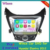 Free Shipping GPS Wince 6.0 Car Multimedia DVD Player for Hyundai Elantra 2012 With GPS Navigation Free 8G Map Card 800*480