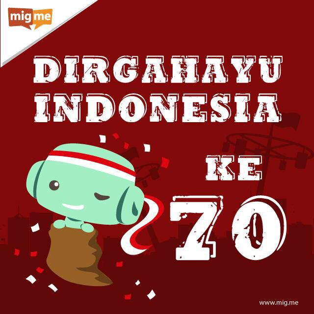 From migme for Indonesia Independence Day