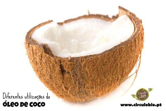 Diferentes utilizações do óleo de coco virgem biológico