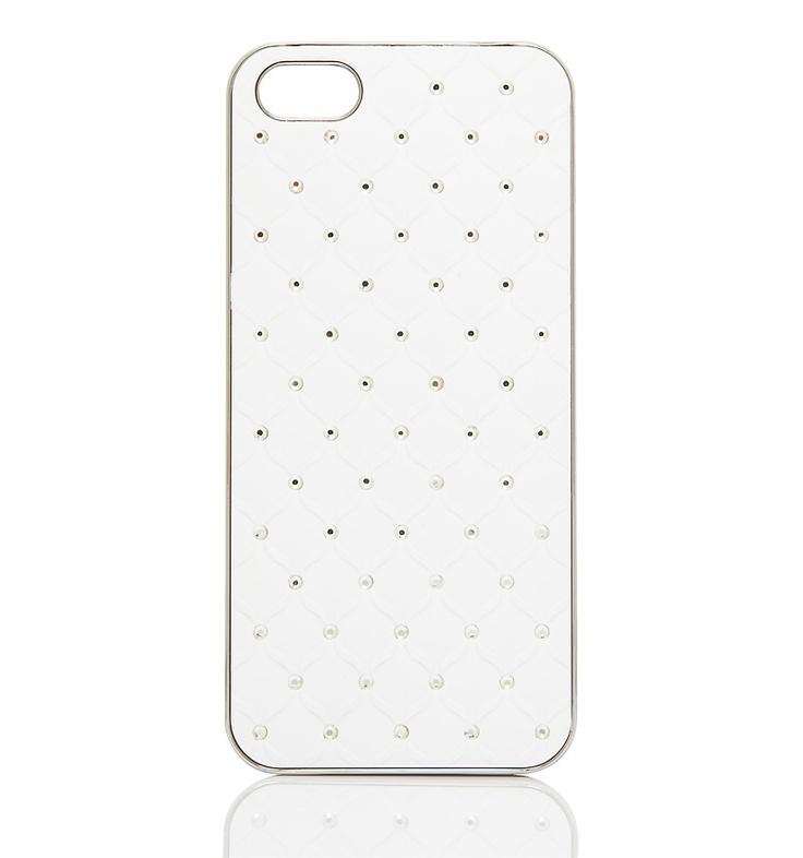 DEMI DIAMOND PHONE CASE - WHITE
