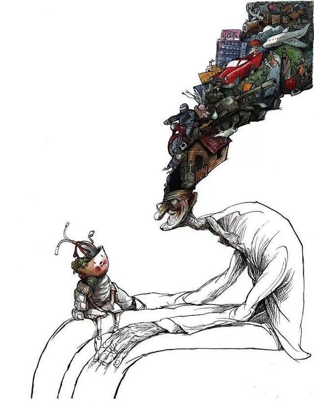 Sad and Surreal Contemporary Cartoons by Angel Boligan - My Modern Metropolis