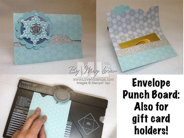 Easy Gift Card Holders: Envelope Punch Board Alert!! - Stampin Up! Demonstrator - Meg Loven - Video Tutorials, Project Ideas, Order Online Any Time