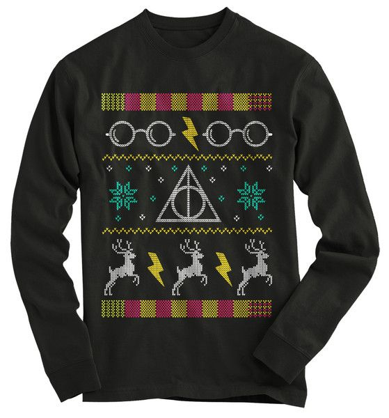 Harry Potter Glasses Ugly Christmas Sweater - 1