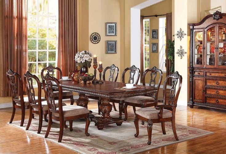 Formal dining rooms room set and benefits of on pinterest for Traditional dining room pinterest