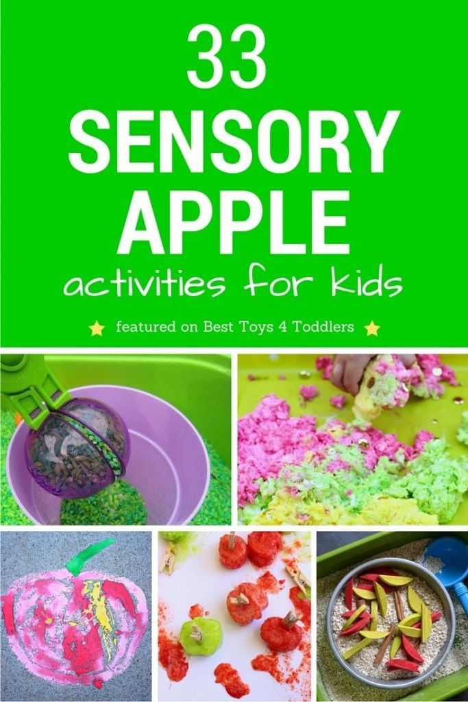 33 Sensory Apple Activities for kids perfect for apple unit or seasonal fall activity
