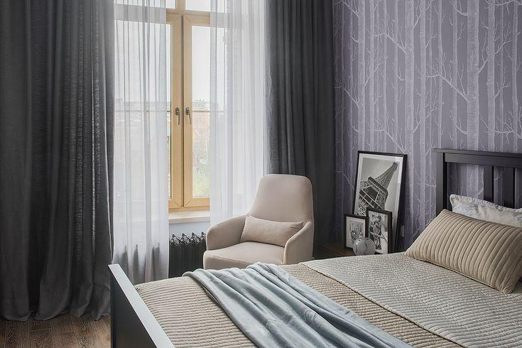 Интерьер спальни из проекта Трёхкомнатная квартира в современном городском стиле. Автор Насонова Анна
