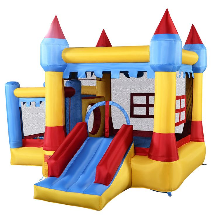 Inflatable Bounce House Castle Commercial Kids Jumper Moonwalk With Ball