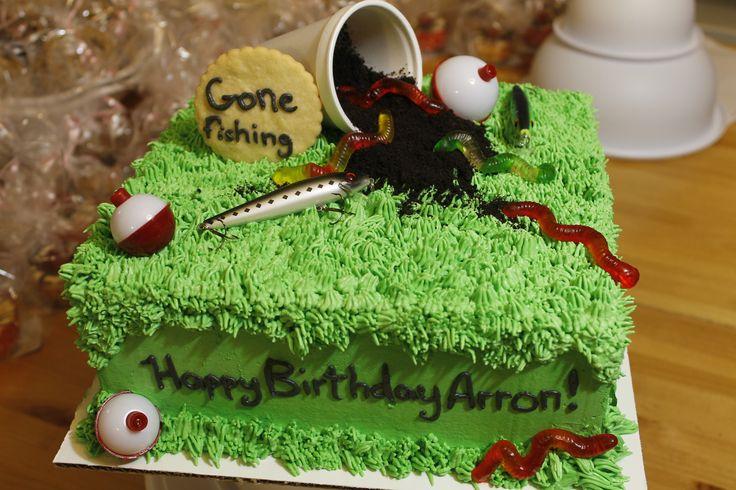Gone fishing! Birthday cake for a fishing fan.