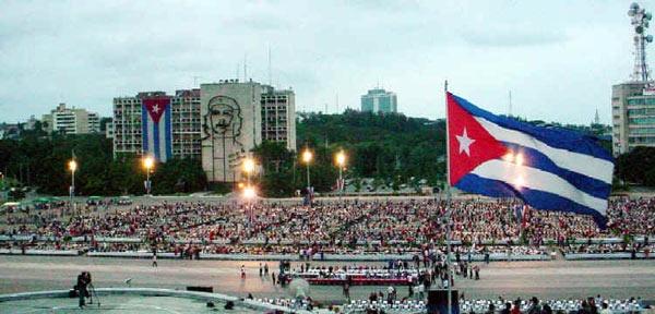 Una simultánea gigante de ajedrez, organizada en la Plaza de la Revolución, fue en su momento la mayor del mundo. Foto: Juan Moreno