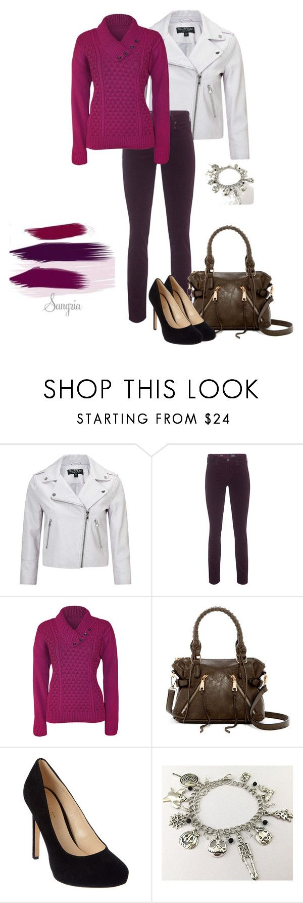 """""""Autumn Color Palettes: Sangria"""" by camrynmarie20 ❤ liked on Polyvore featuring Miss Selfridge, AG Adriano Goldschmied, WearAll, Urban Expressions and Nine West"""