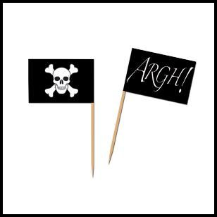 Pirate Flag Piks, $1.99 Cdn package of 50.