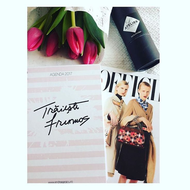 Happy sunday | A perfectly relaxing day calls for bright tulips, your favorite planner #traiestefrumos, magazines and beauty favorites. via @tatianaernuteanu #sunday #relaxing #activities #weekendvibes #agenda #traiestefrumos #shoponline #shopandreearaicu #lofficiel #magazine #beautiful #tulips #instadaily #instapic #instamoment #instaflowers #igplanner #planneraddict #stationery #love