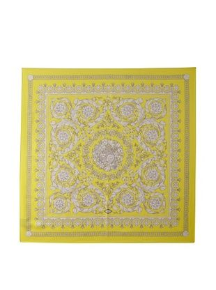 Versace Women's Floral Printed Scarf (Yellow)