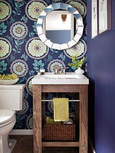 When your bathroom is short on space, the right vanity can help you live larger than your square footage: http://www.bhg.com/bathroom/vanities/small-bathroom-vanities/small-bathroom-vanity-ideas/?socsrc=bhgpin120614openstorage&page=2