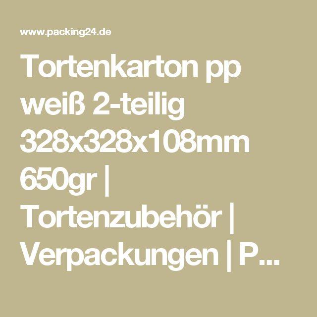 Tortenkarton pp weiß 2-teilig 328x328x108mm 650gr   Tortenzubehör   Verpackungen   Packing24.de