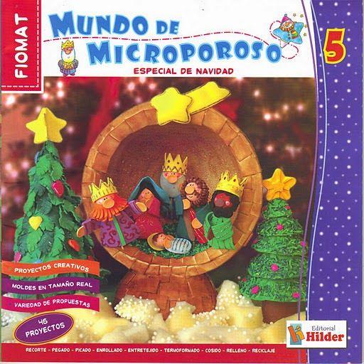 Manualidades navideñas en microporoso