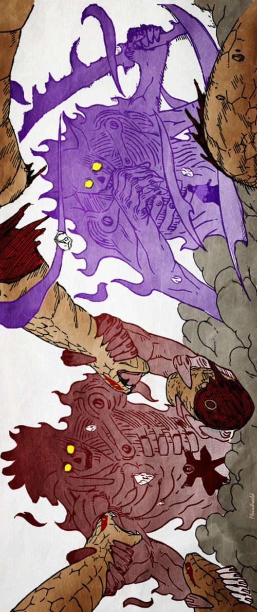 Itachi and Sasuke against Kabuto