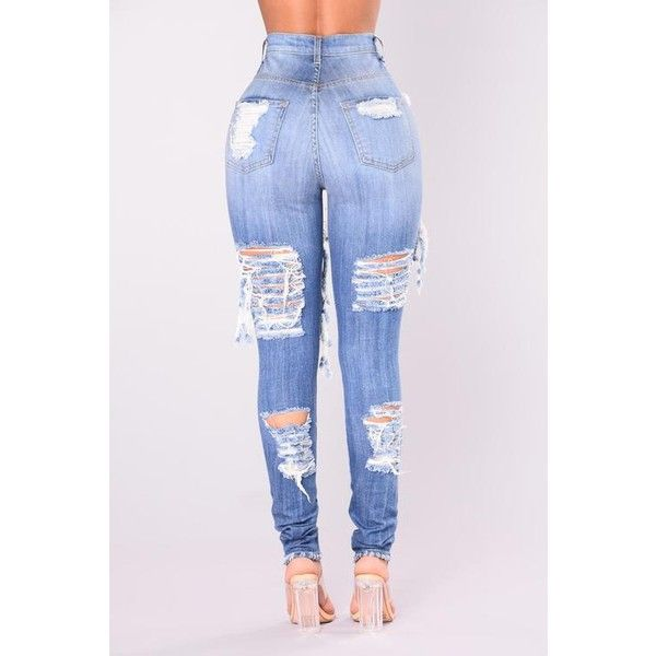 Alter Ego High Waisted Distressed Jeans Light Blue ❤ liked on Polyvore featuring jeans, light blue ripped skinny jeans, high-waisted jeans, stretch skinny jeans, destroyed skinny jeans and high rise skinny jeans