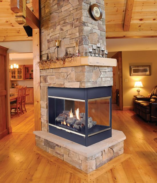 25 best ideas about freestanding fireplace on pinterest - Fireplace between two rooms ...