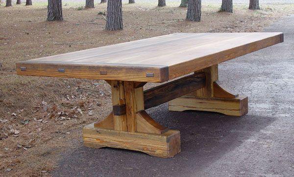 Farmhouse trestle table Not a house but a home