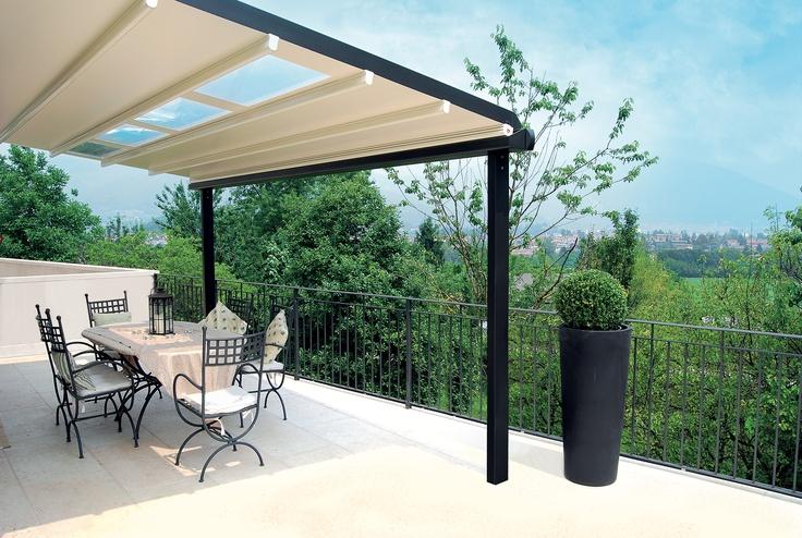 Pergole Unica 130 din aluminiu, pergole Gibus fantastice pentru orice terasa de vila sau gradina, pergole Gibus de calitate superioara la un pret excelent.