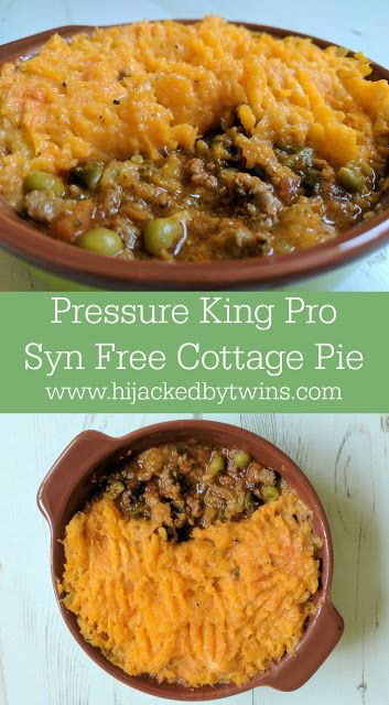 Hijacked By Twins: Cottage Pie Topped with Butternut Squash - Pressure King Pro Recipe
